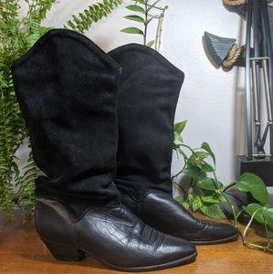 Vintage Dingo Suede Leather Boots Size 8 womens